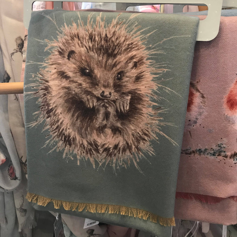 Wrendale Winter Scarf with Gift Bag - Hedgehog