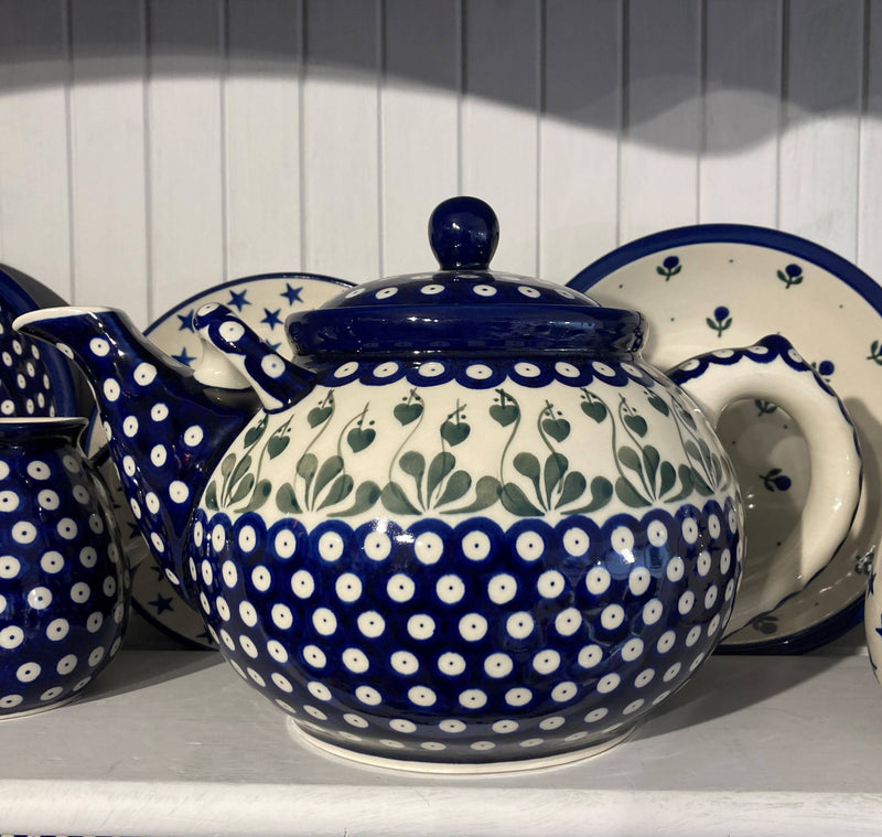 Polish Pottery Giant Teapot 3 ltr