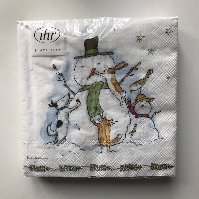 Christmas Themed Napkins - Pack of 20 in Snowman design