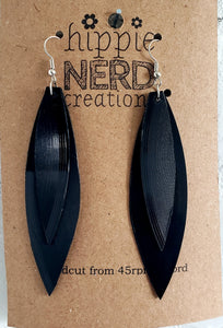 Paint it Black Upcycled Earrings