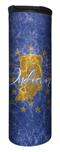 Indiana State Flag Stainless Steel Barista