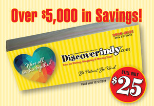 Discover Indy Savings Book