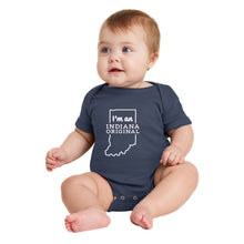 "Load image into Gallery viewer, ""I'm an Indiana Original"" Onesie - Six month"