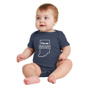 """I'm an Indiana Original"" Onesie - Six month"