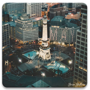 Monument Circle Photograph Absorbent Coaster Set