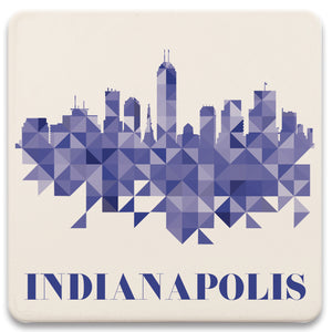 Indianapolis Skyline Absorbent Coaster Set