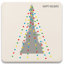 Load image into Gallery viewer, Monument Circle Holiday Lights Absorbent Coaster Set