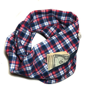 Flannel Pocket Scarf