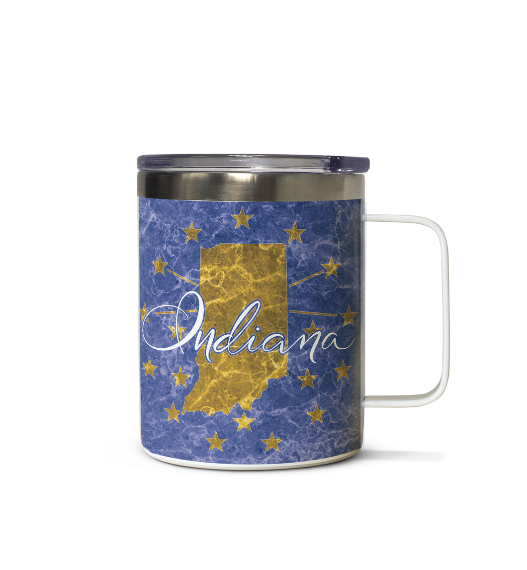 Indiana State Flag Stainless Steel Tazza Mug
