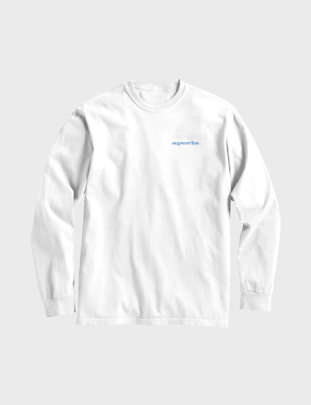 Sports Long Sleeve Tee (White)