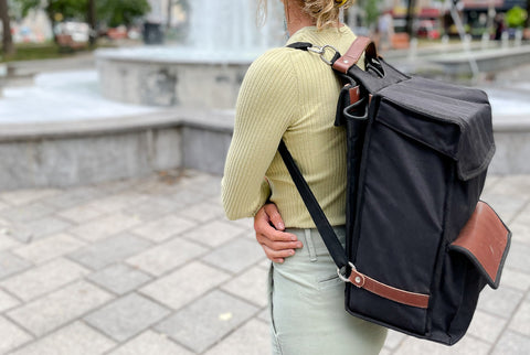 Backpack briefcase bicycle pannier commuter cyclist student bike padded laptop sleeve pouch Buro Bag Oopsmark