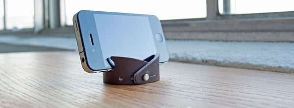 Leather Smartphone Stand & Bracelet