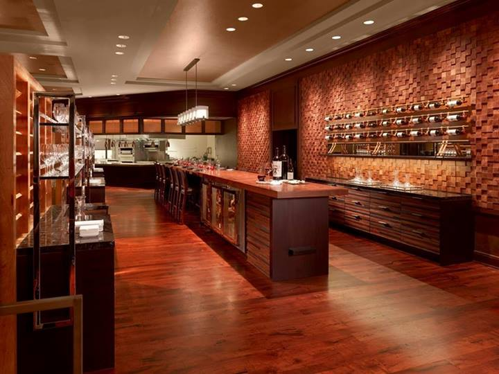 Wine bar design custom leather
