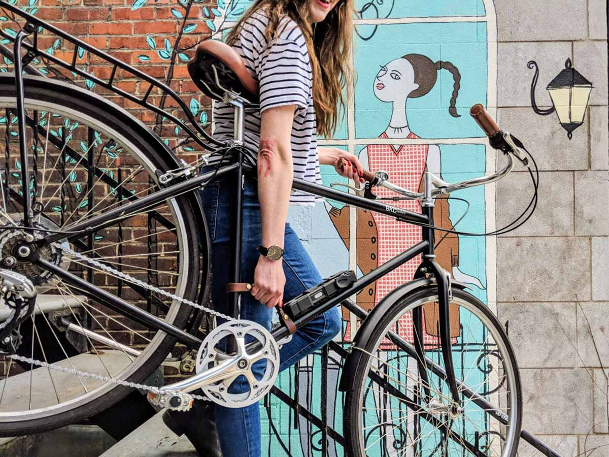 Handmade in Montreal Bicycle Leather Handle Strap by Oopsmark