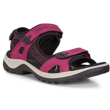 Quarter view Women's ECCO Footwear style name Yucatan in color Sangria/ Fig. Sku: 069563-51760