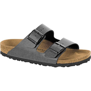Men's Birkenstock Arizona Birko Flor Regular in Pull Up Anthracite sku: 1000126