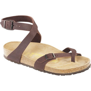 Women's Birkenstock Yara Birkibuc Regular in Mocha