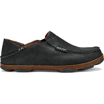 Men's Olukai Moloa in Black/ Toffee sku: 10128-4033