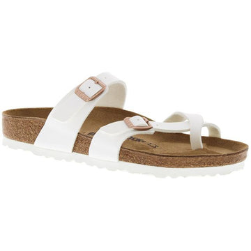 Women's Birkenstock Mayari Birko Flor Regular in White  sku: 1014190
