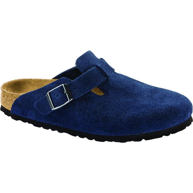 Women's Birkenstock Boston Soft Footbed Narrow in Night Suede sku: 1014221