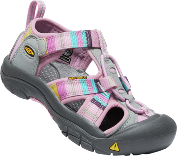 Quarter view Girl's Keen Footwear style name Vince H2 Children 8-13 in color Lilac/ Raya. Sku: 1014935