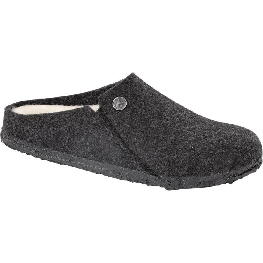 Men's Birkenstock Zermatt Shearling Reg in Anthracite/ Natural sku: 1015090