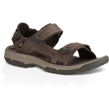 Quarter view Men's Teva Footwear style name Langdon Sandal in color Walnut. Sku: 1015149WAL