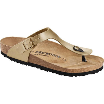 Women's Birkenstock Gizeh Birko Flor Regular in Gold sku: 1016108