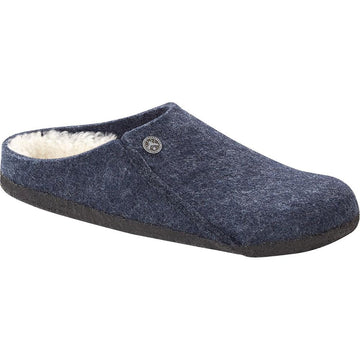 Men's Birkenstock Zermatt Shearling Reg in Dark Blue/ Natural sku: 1017535