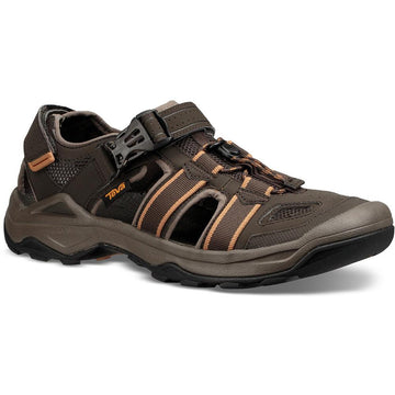 Quarter view Men's Teva Footwear style name Omnium 2 in color Black Olive. Sku: 1019180BLKO