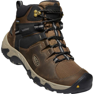 Men's Keen Steens Waterproof Mid in Canteen/ Black sku: 1022327