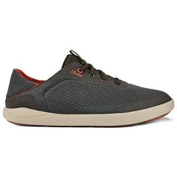 Quarter view Men's Olukai Footwear style name Moku Pae in color Island Salt/ Koi. Sku: 10472-4EKZ