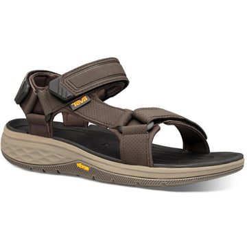 Quarter view Men's Teva Footwear style name Strata Universal in color Turkish Coffee. Sku: 1099445TKCF