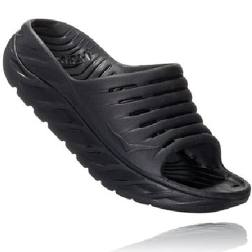 Men's Hoka Ora Recovery Slide in Black/ Black sku: 1099673BBLC