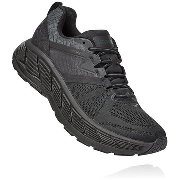 Men's Hoka Gaviota 2 Wide  in Black/ Dark Shadow sku: 1099717BDSD