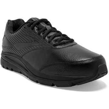 Quarter view Men's Brooks Footwear style name Addiction Walker 2 Double Wide in color Black. Sku: 110318-4E072