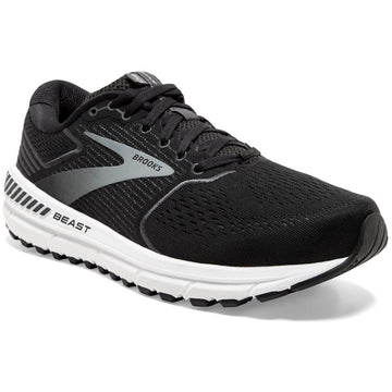 Men's Brooks Beast 20 - Double Wide in Black/ Ebony