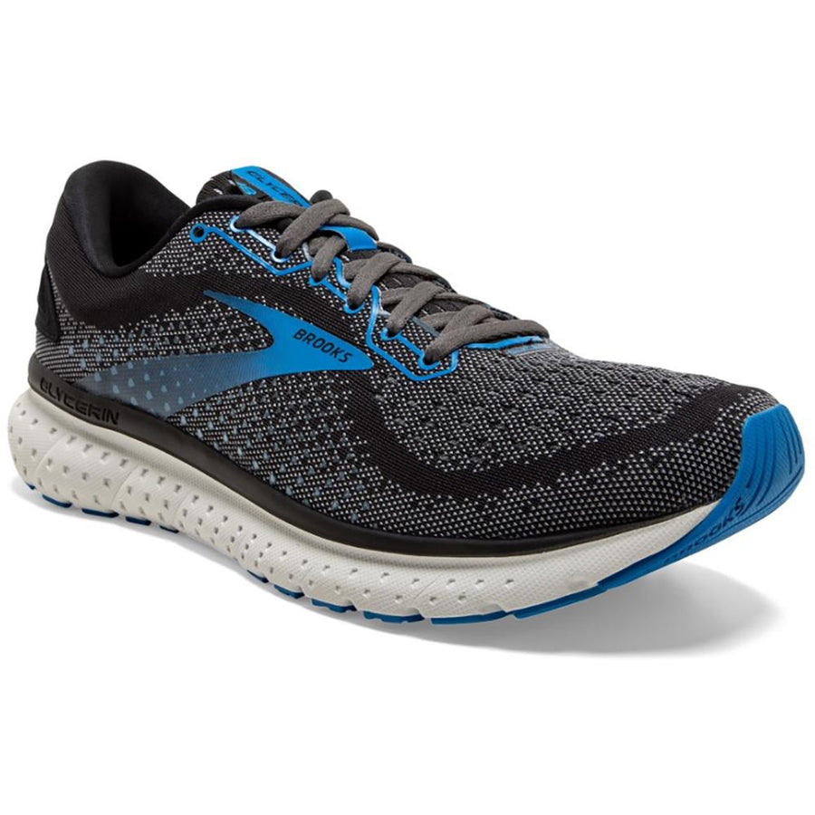 Men's Brooks Glycerin 18 Neutral - Medium in Black/ Ebony/ Blue sku: 110329-1D064