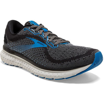 Men's Brooks Glycerin 18 Neutral - Wide in Black/ Ebony/ Blue sku: 110329-2E064