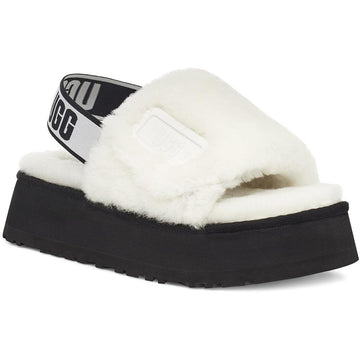 Women's UGG Australia Disco Slide in White sku: 1112258WHT