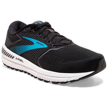Women's Brooks Ariel 20 - Wide in Black/ Eb Blu