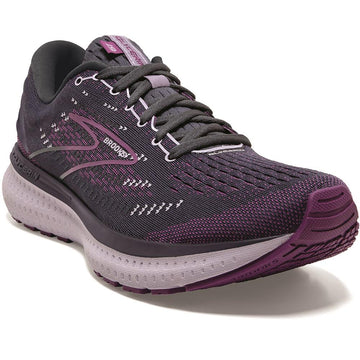 Quarter view Women's Brooks Footwear style name Glycerin 19 Medium in color Ombre/ Violet/ Lavender. Sku: 120343-1B572