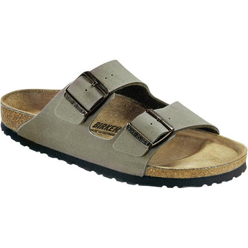 Men's Birkenstock Arizona Birkibuc Regular in Stone