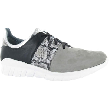 Women's Naot Buzz Lace in Light Gray Nubuck/ Gray Cobra Leather sku: 18019-NPB