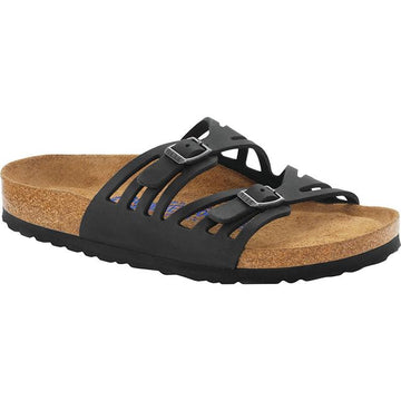 Womens Birkenstock Granada Regular In Black Oil