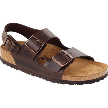 Men's Birkenstock Milano Soft Footbed Regular in Brown Amalfi