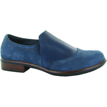 Women's Naot Angin in Navy Velvet Nubuck/ Soft Ink Leather sku: 26054-PCY