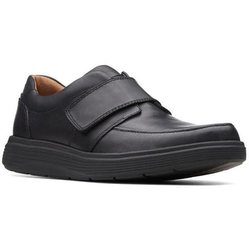 Men's Clarks Un Abode Strap in Black Leather  sku: 26136986