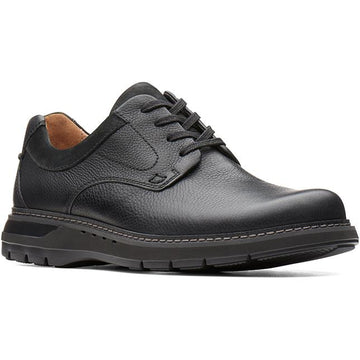 Clarks Un Ramble Lo Black Tumbled Leather