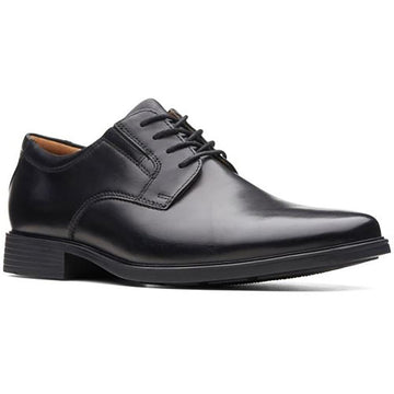 Men's Clarks Tilden Plain Ii Waterproof in Black Leather